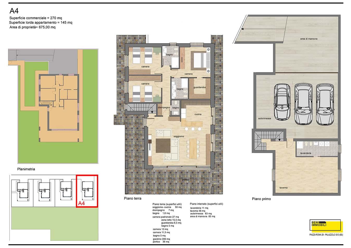 Planimetria villa 2 - esempio