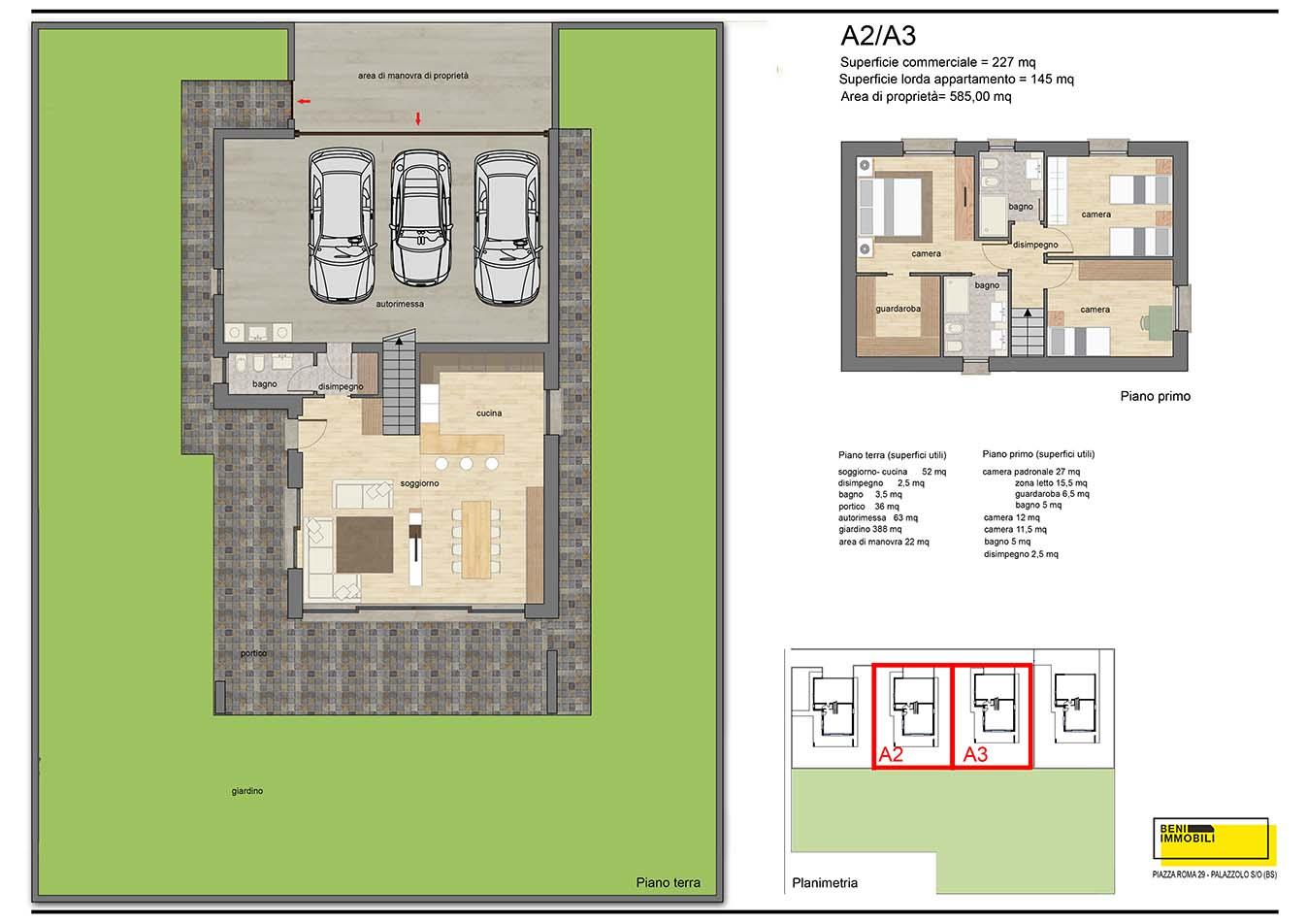Planimetria villa 1 - esempio